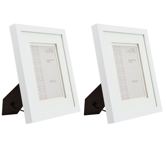 Buy Set Of 2 5x7 Inch Double Mount Frames White Photo Frames Argos