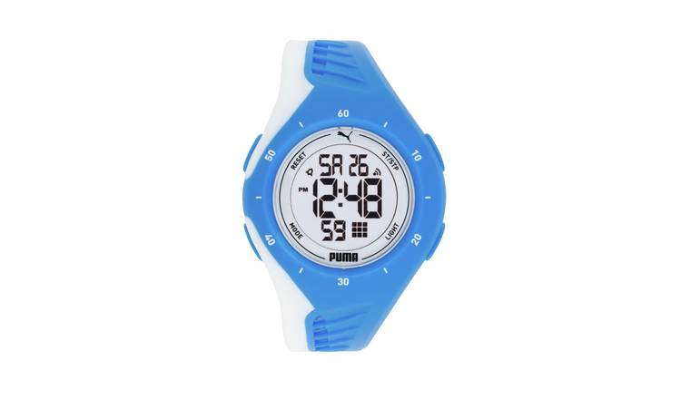 Puma Ladies Digital Blue Sport Strap Watch