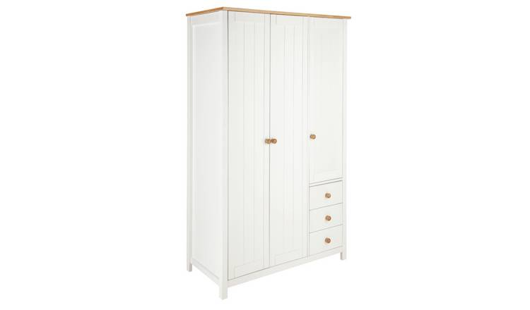 Habitat Scandinavia 3 Door 3 Drawer Wardrobe - Two Tone