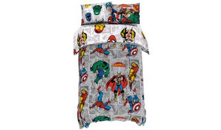 Disney Marvel Reversible Bedding Set - Single