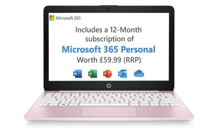 HP Stream 11.6in Celeron 2GB 32GB Cloudbook - Pink