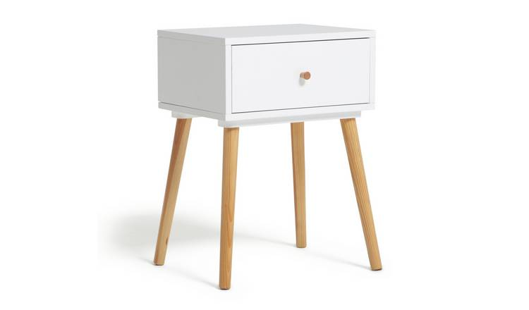 Habitat Otto 1 Drawer Bedside Table - White