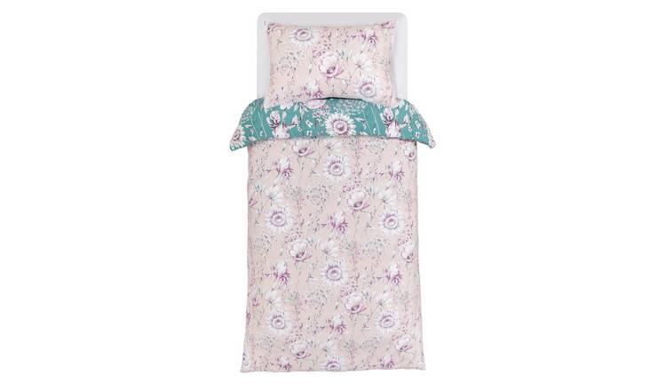 Argos Home Blush Floral Bedding Set - Single