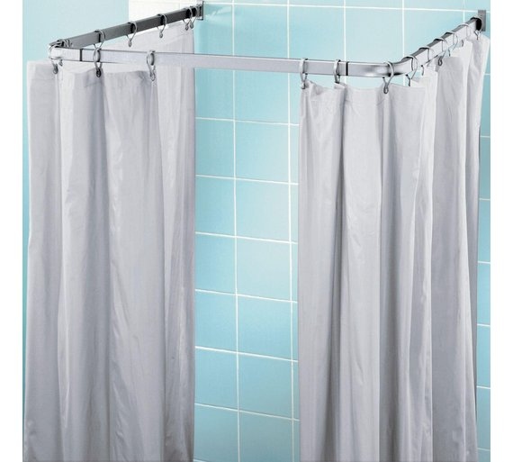 Buy Home Shower Frame And Curtain Set White Silver At Your Online Shop For