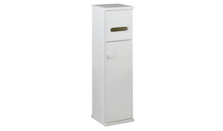Argos Home Toilet Roll Holder and Storage Cupboard - White