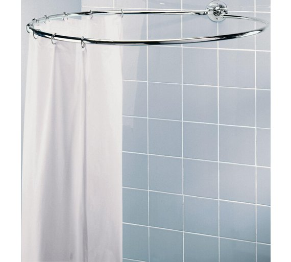 HOME Circular Shower Rail Plated Is Light Yet Sturdy A Chrome
