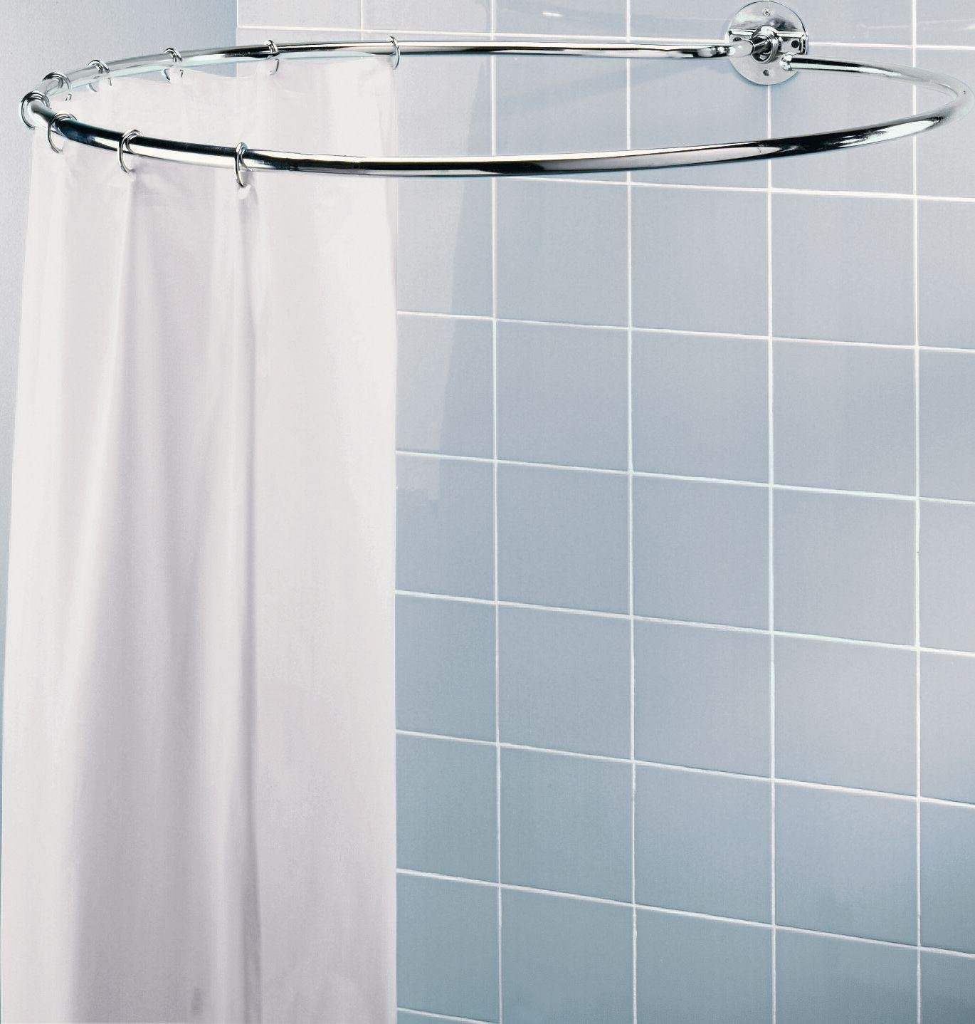 home circular shower rail chrome plated