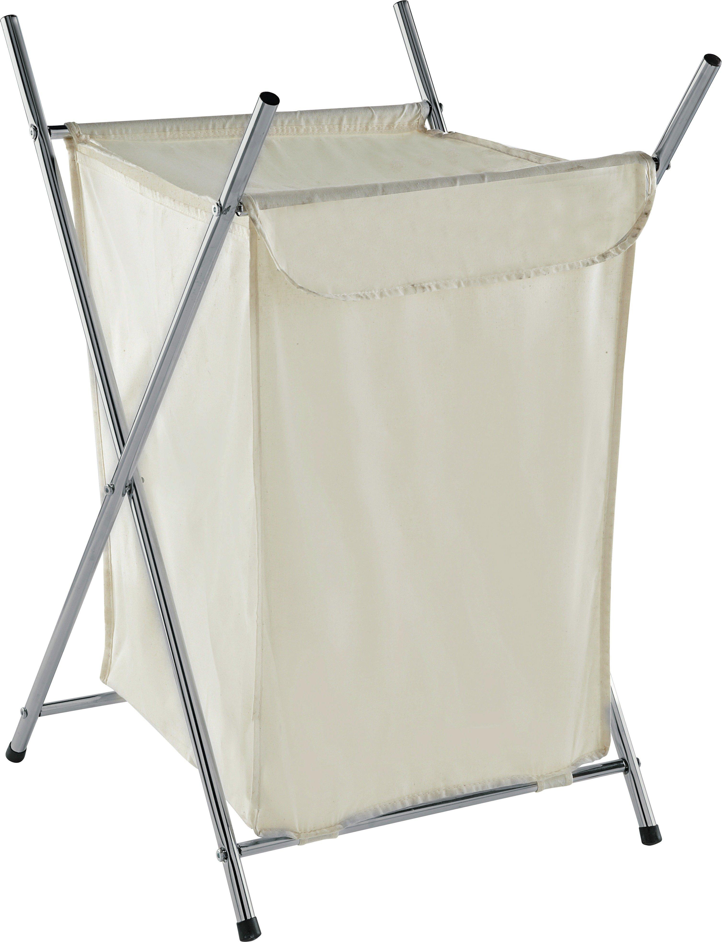 home-75-litre-chrome-folding-laundry-basket