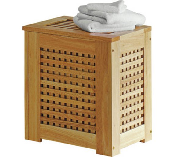buy home wooden laundry bin natural at. Black Bedroom Furniture Sets. Home Design Ideas