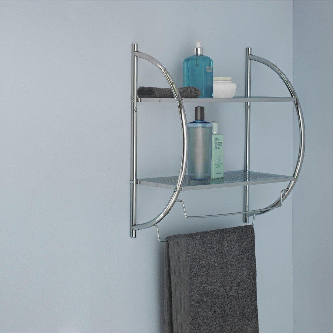 Collection Shelf and Towel Rail - Chrome