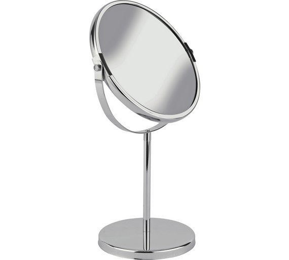 Buy HOME Round Chrome Freestanding Bathroom Mirror At Argoscouk