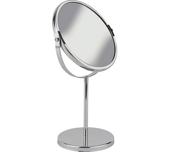 buy simple value round chrome bathroom mirror at. Black Bedroom Furniture Sets. Home Design Ideas