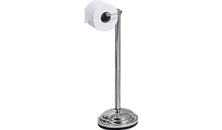 Argos Home Freestanding Toilet Roll Holder - Chrome Plated