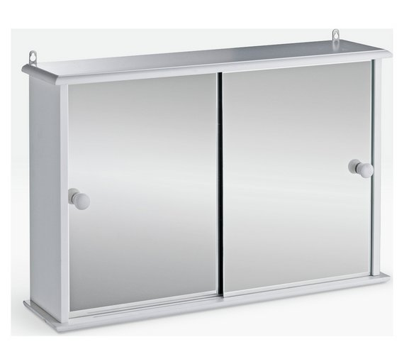 Buy Argos Home Sliding Door Bathroom Cabinet White Bathroom