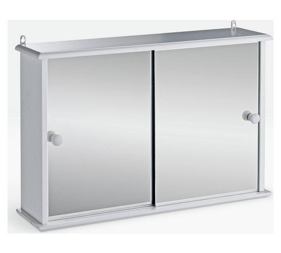 Buy Home Sliding Door Bathroom Cabinet White At Argos Co Uk
