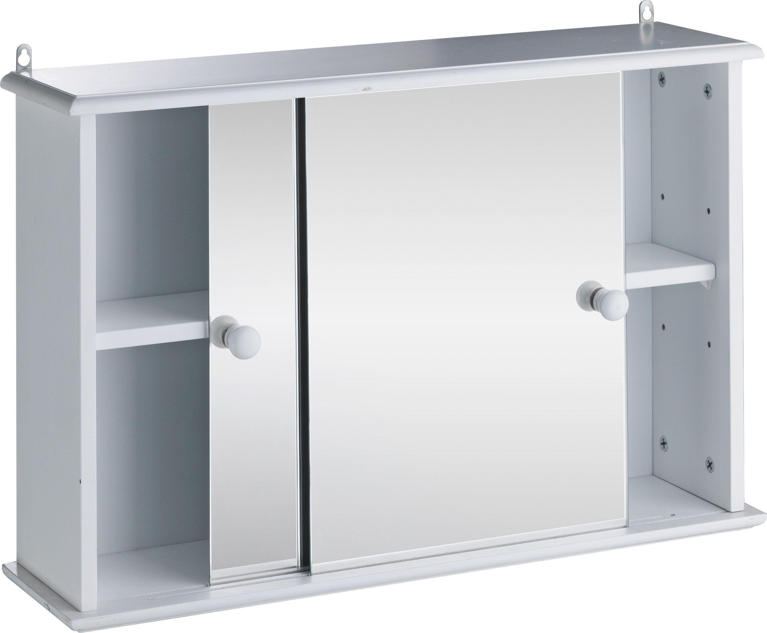 Argos Stainless Steel Double Mirrored Door Bathroom Cabinet Bathroom Sink Cabinets Argos With