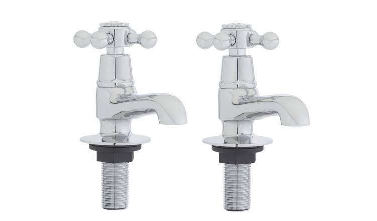 Argos Home Traditional Victorian Basin Taps - Chrome Plated