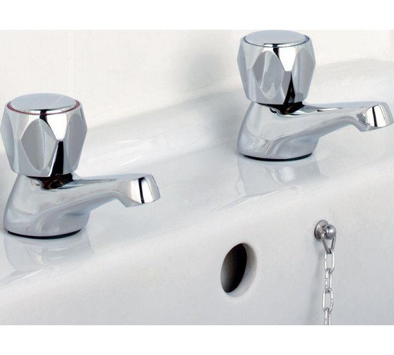 Buy Argos Home Basin Taps - Chrome Plated | Bathroom taps and mixers ...