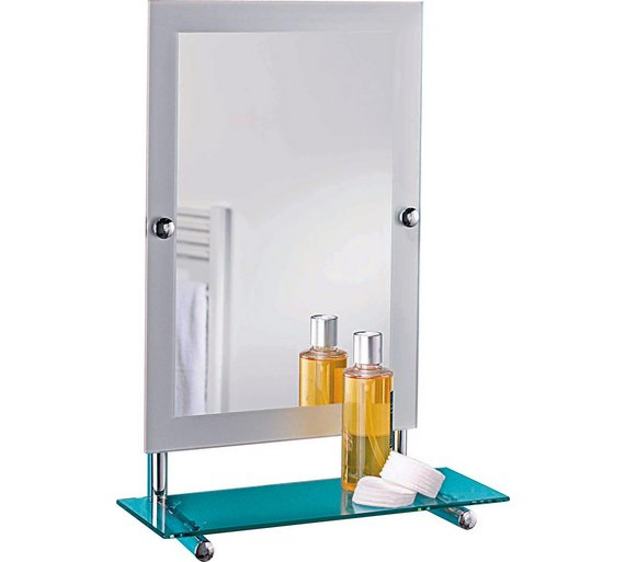 Buy Collection Rect Frosted Edge Wall Mirror Glass Shelf At