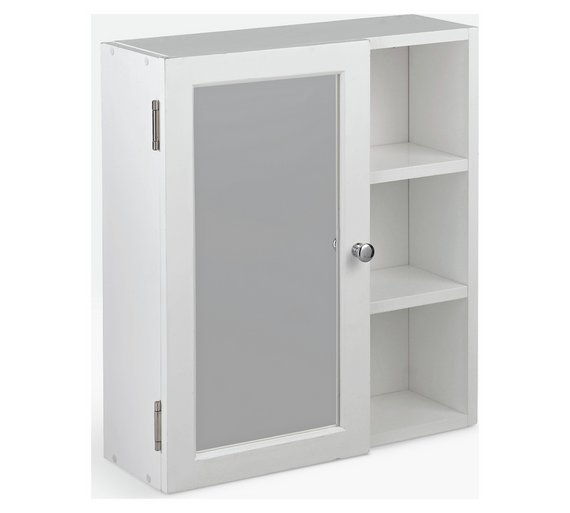 Buy HOME Single Mirror Bathroom Cabinet With Shelves