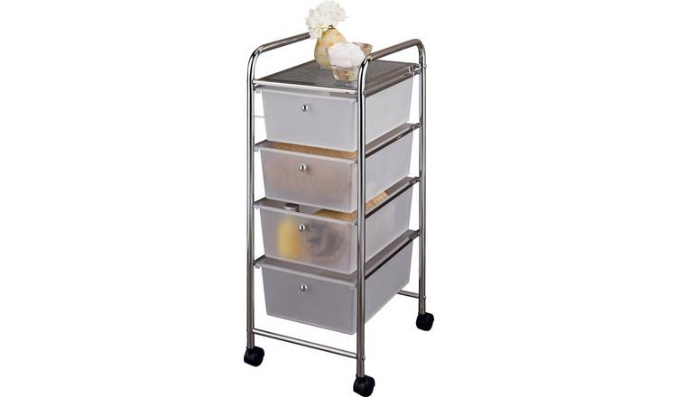 Argos Home 4 Drawer Storage Trolley on Wheels