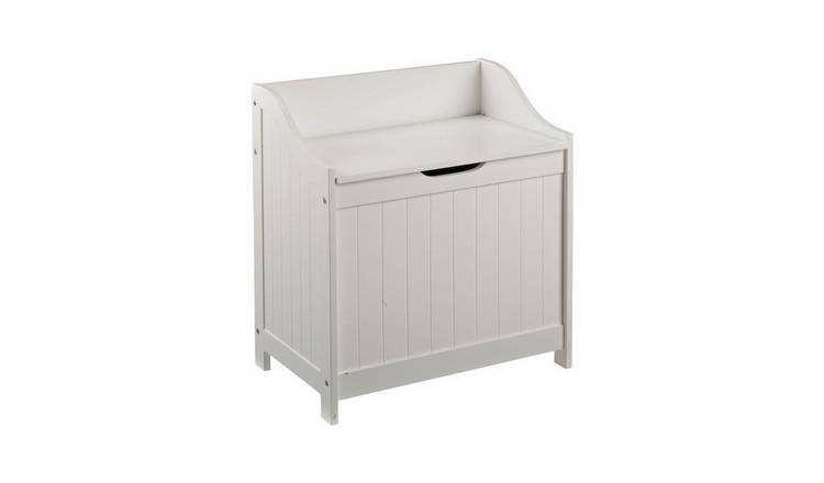 Argos Home 60 Litre Monks Bench Style Laundry Box - White