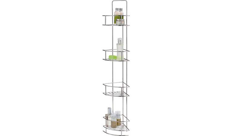 Argos Home 4 Tier Wire Corner Unit - Chrome