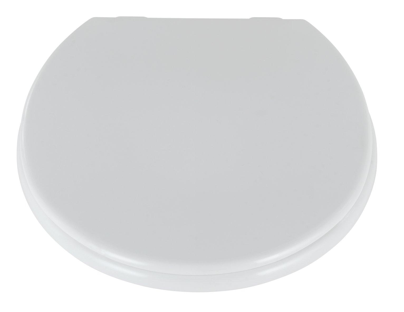 Argos Home Plastic Toilet Seat - White