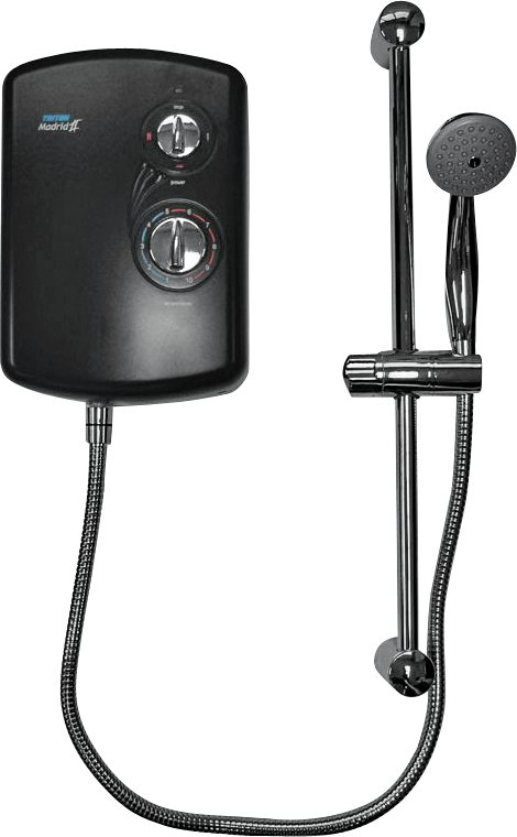 Triton Madrid II 8.5kW Electric Shower - Black and Chrome