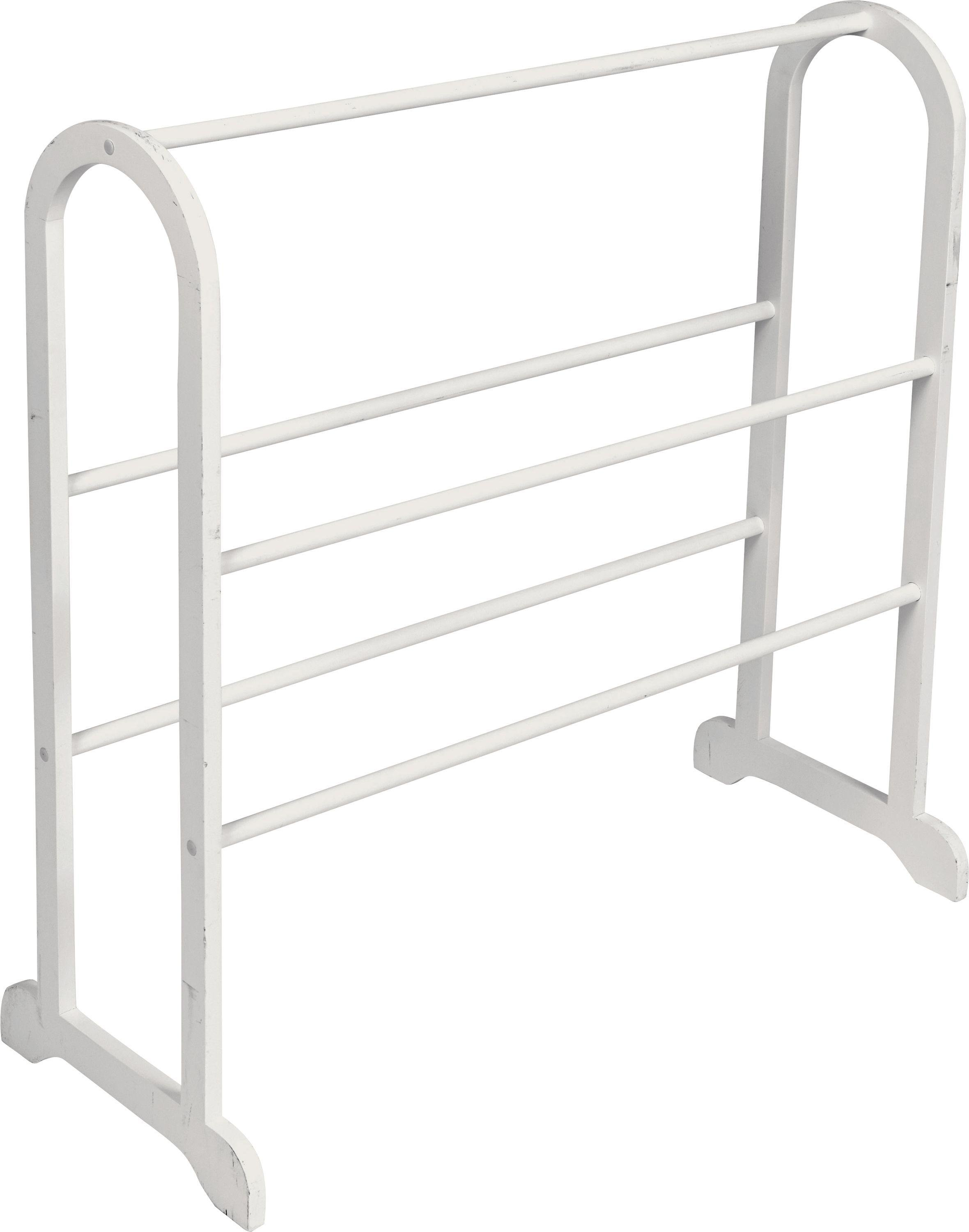 HOME - Contemporary Wooden - Towel Stand - White