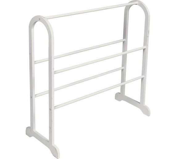 HOME Contemporary 5 Rail Freestanding Towel Stand   White. Buy HOME Contemporary 5 Rail Freestanding Towel Stand   White at