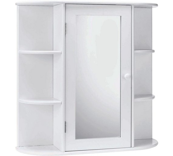 Buy Home Mirrored Bathroom Cabinet With Shelves White At Argos