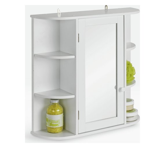 Buy HOME Mirrored Bathroom Cabinet With Shelves