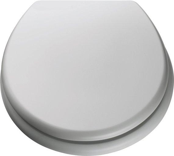 Buy ColourMatch Moulded Wood Toilet Seat Super White At Argosco - Black wooden toilet seat