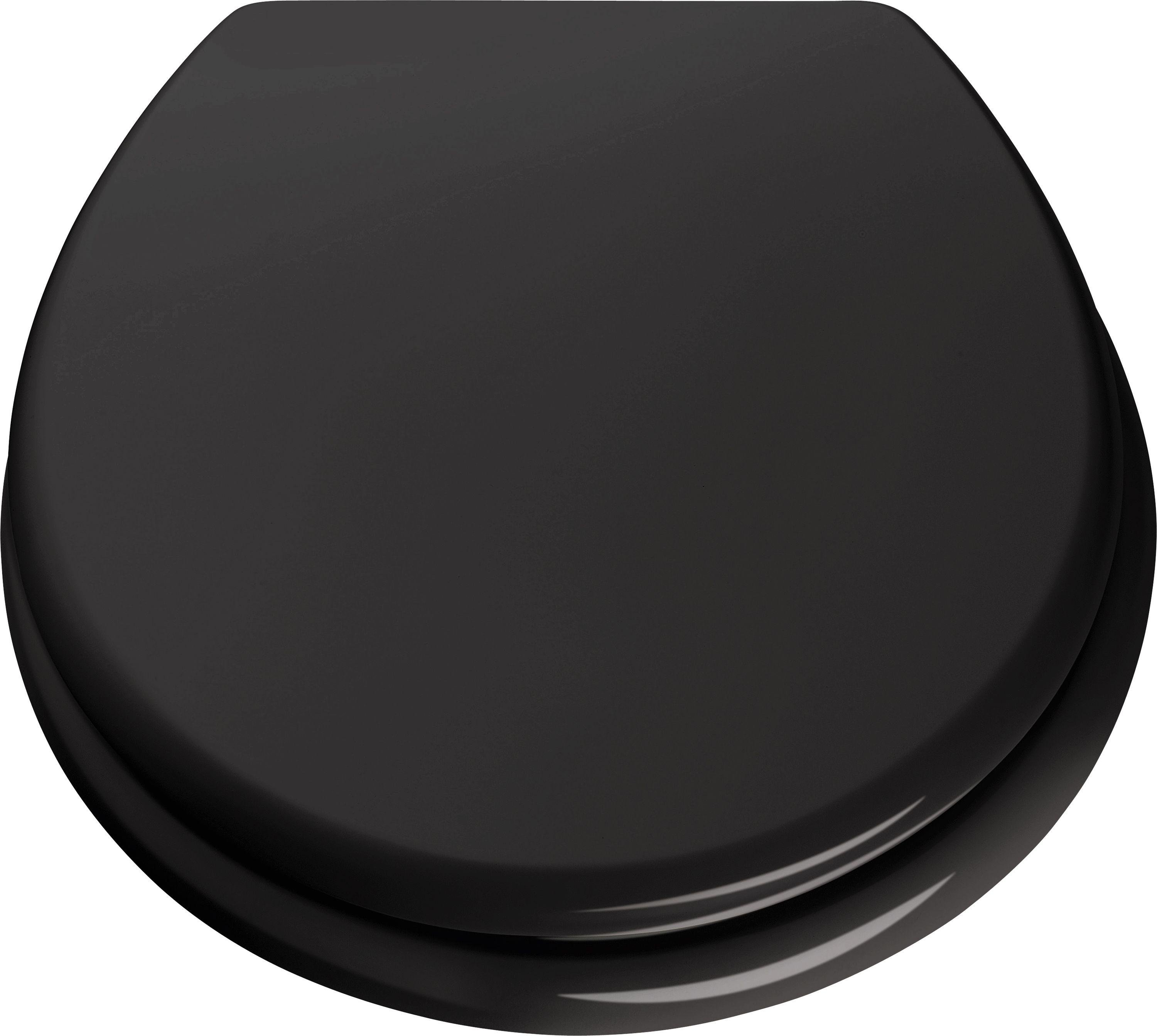 Buy ColourMatch Moulded Wood Toilet Seat Jet Black at Argosco