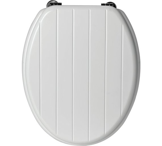 wooden white toilet seat. Click To Zoom Buy HOME Moulded Wood Shaker Style Toilet Seat  White