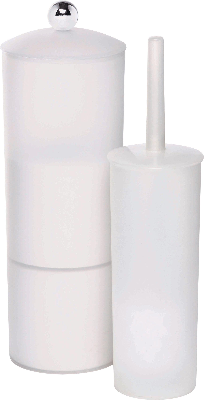 simple value toilet brush and roll holder white
