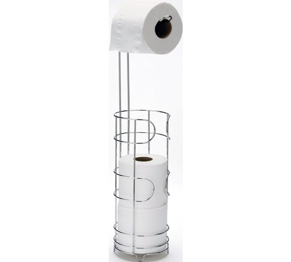 Buy Home Wire Toilet Roll Storage And Holder Silver At