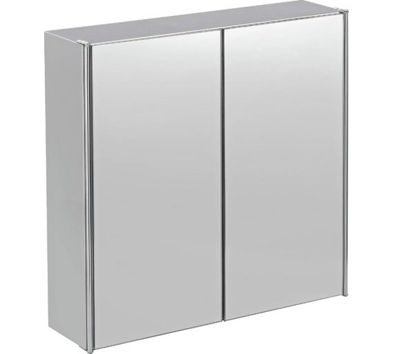 Buy HOME Double Door Mirrored Bathroom Cabinet