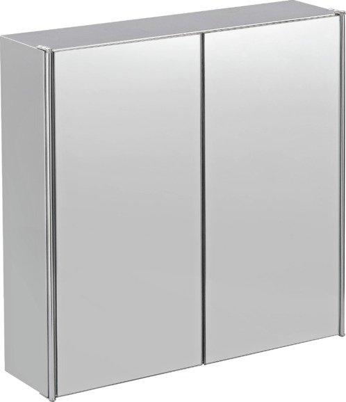 Buy HOME 2 Door Mirrored Stainless Steel Bathroom Cabinet