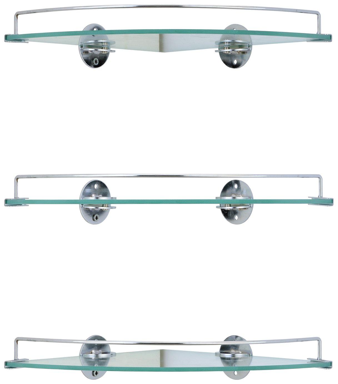 Argos Home Set Of 3 Glass Corner Shelves 8331434 Argos