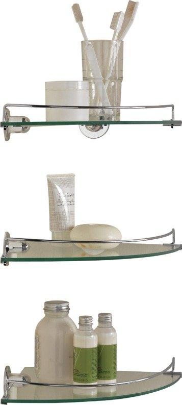 HOME Glass Corner Shelves   Pack Of 3833/1434