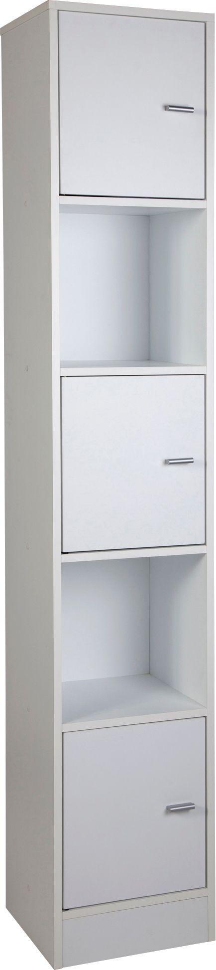 Buy HOME Tall Bathroom Storage Unit White at Argoscouk Your