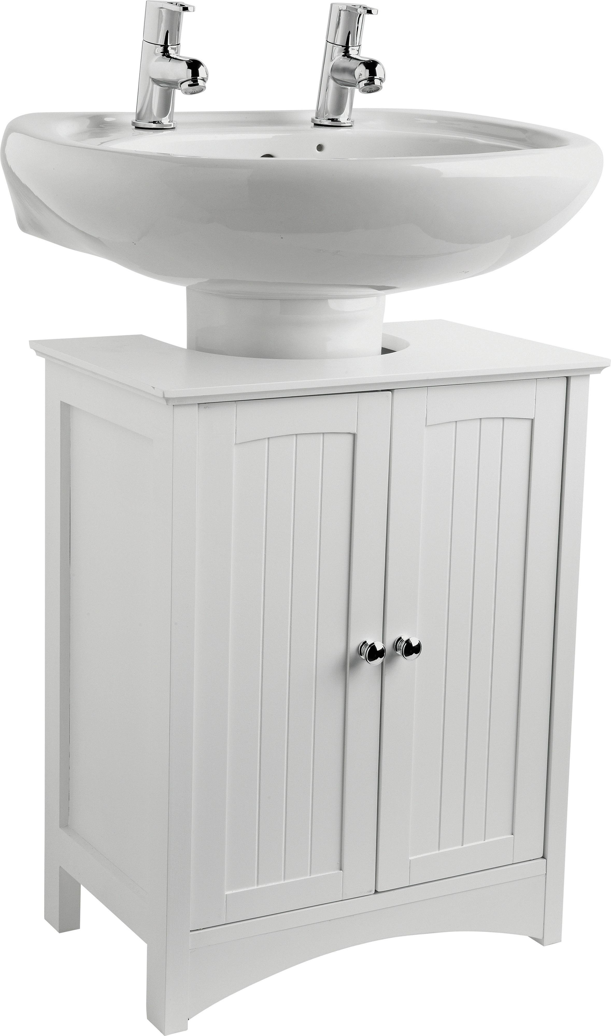 Buy HOME Tongue and Groove Under Sink Storage Unit White at
