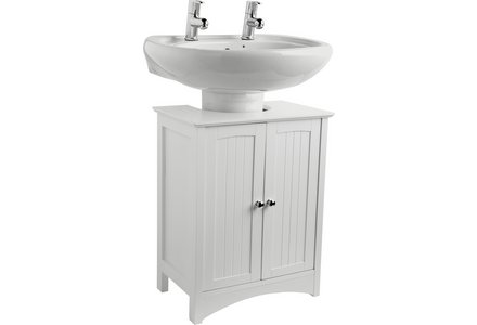 HOME Tongue and Groove Under Sink Storage Unit - White.