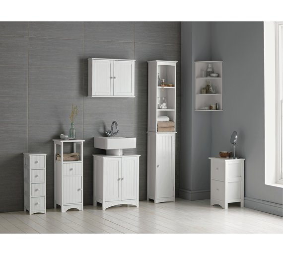 Buy HOME Tongue and Groove Under Sink Storage Unit - White at ...