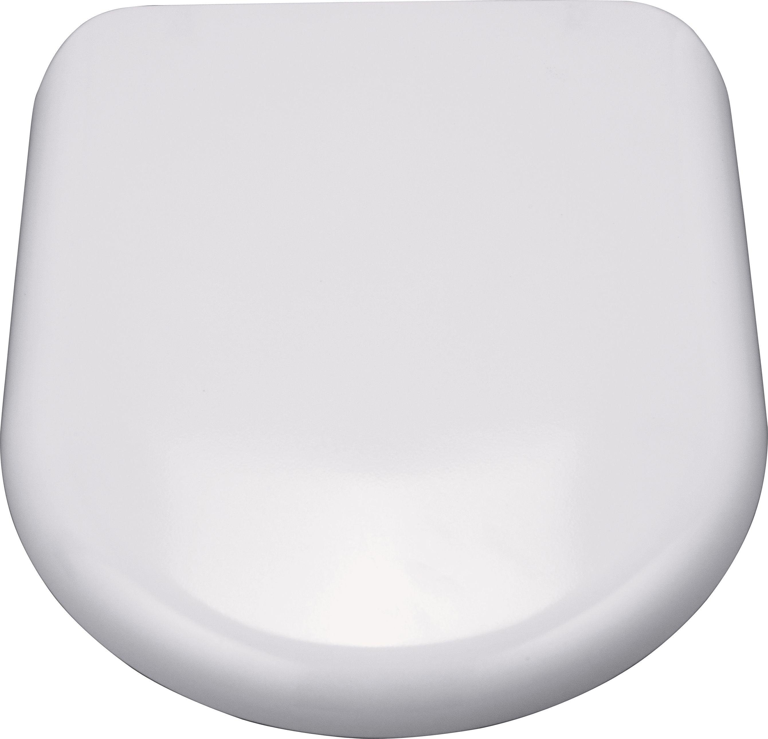 Buy HOME Square Back Thermoplastic Slow Close Toilet Seat White