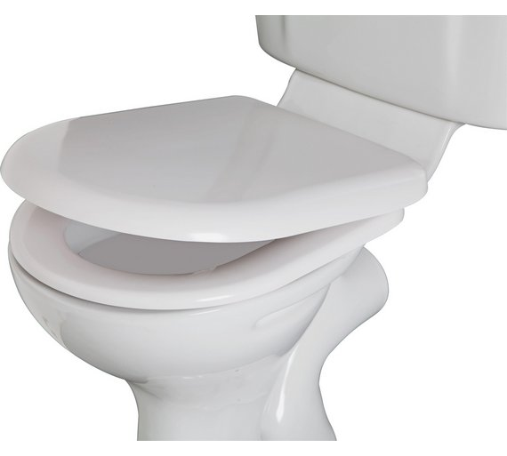Buy HOME Square Back Thermoplastic Toilet Seat White At Your