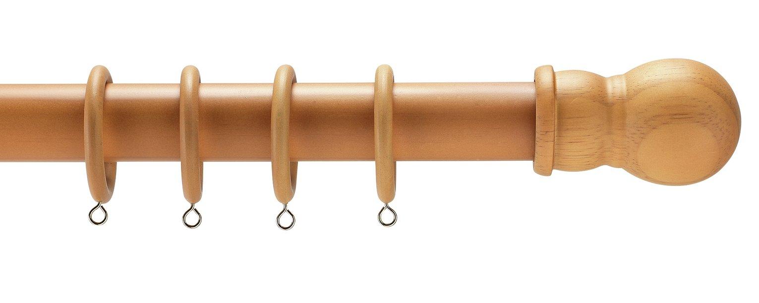 Argos Home 3m Wooden Curtain Pole - Oak