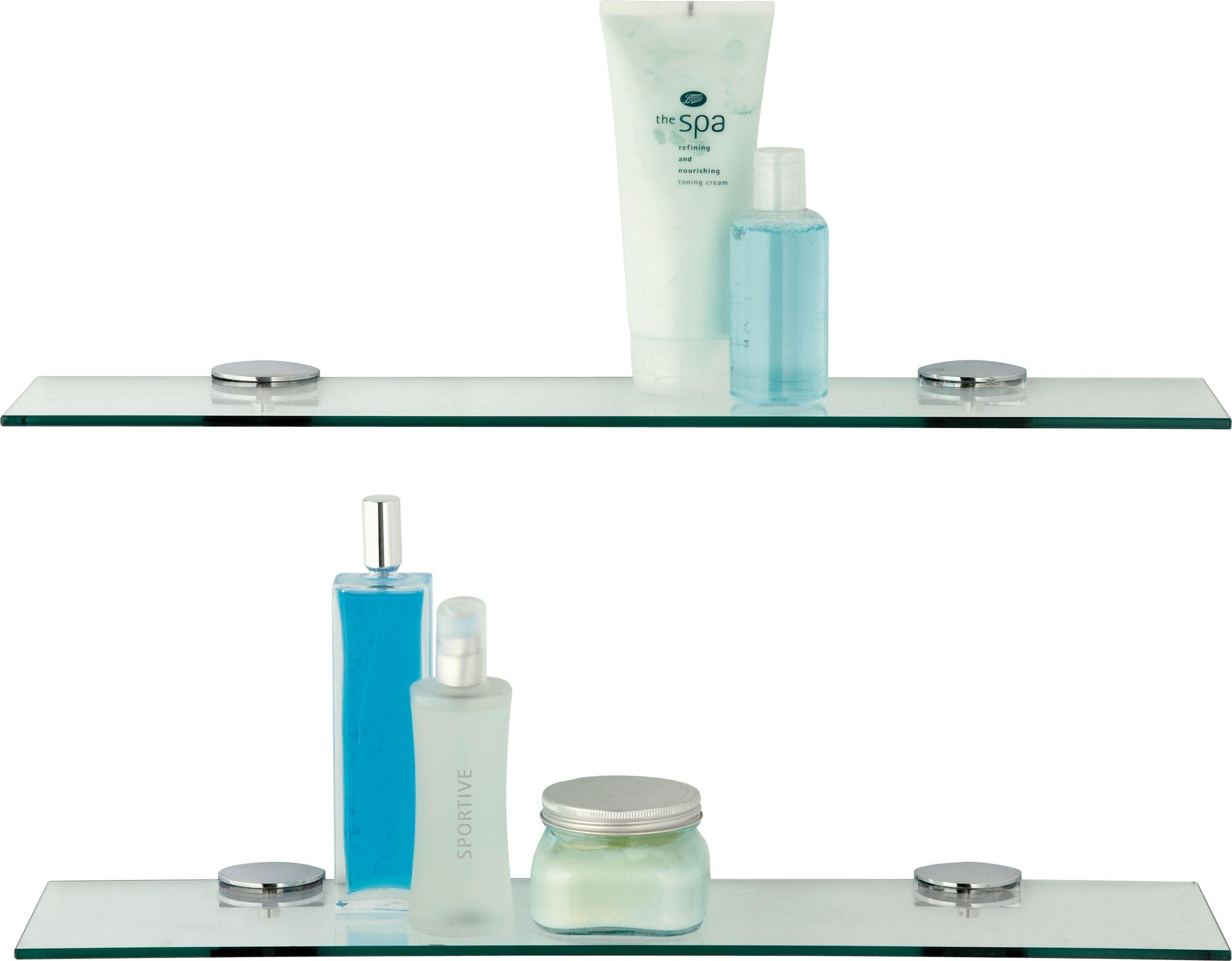 home glass shelves pack of 2